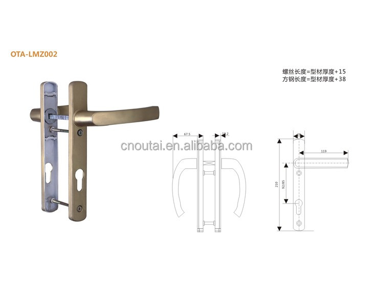 European style chrome door handle cover for interior door