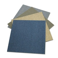 Fine Denier Single Ribbed Peel And Stick Carpet Tiles