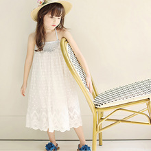 China Supplier Google Children Girls Sexy One Piece White Long Summer Dress