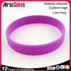 Hot sale delicate custom high quality debossed silicone hand bands