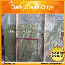 polished Dark Green Onyx slab green and brown marble good price