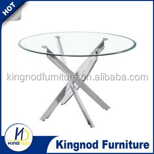 classic glass with black painted rectangular leg dining table