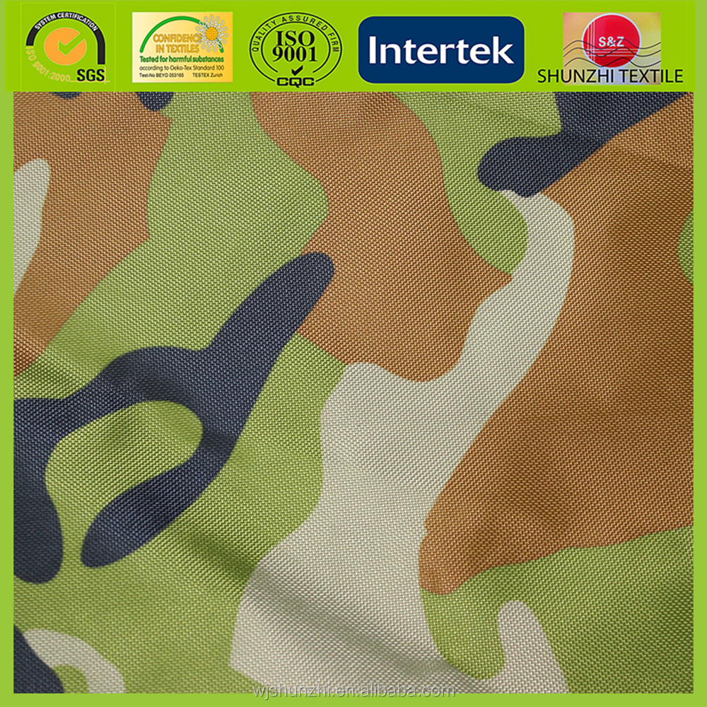 new Custom 1280D Waterproof Military Camouflage Oxford Fabric with glassy rubber coated For Tent