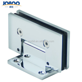 Top selling fitting 10 mm glass thickness brass concealed 90 degree mirror hinge