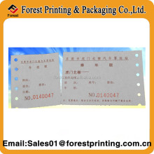 Parking Ticket/Voucher Ticket/Barcode parking ticket