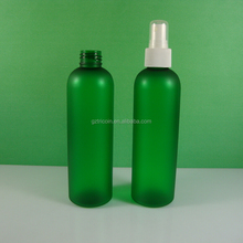 Frosted transparent Green 8 oz plastic bottle with sprayer