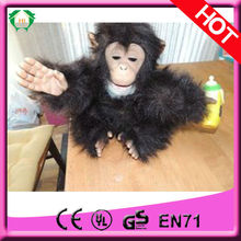 HI EN71 lovely fur real monkey plush toy