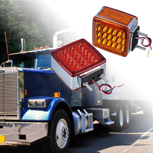 Front/Back Amber/Red LED Double Face Light Turn Signal Side Marker Identification Light for Truck