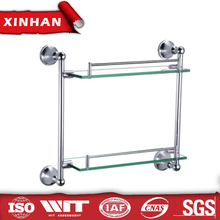 online shop wall-mounted dual tier bathroom accessory set glass shelf