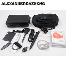 Survival Gear Kit 11 in 1 , Professional Outdoor Emergency Survival Tools Set
