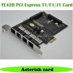 TE420 PCI-E Digium digital card for Asterisk Trixbox Elastix,ISDN card for IP PBX