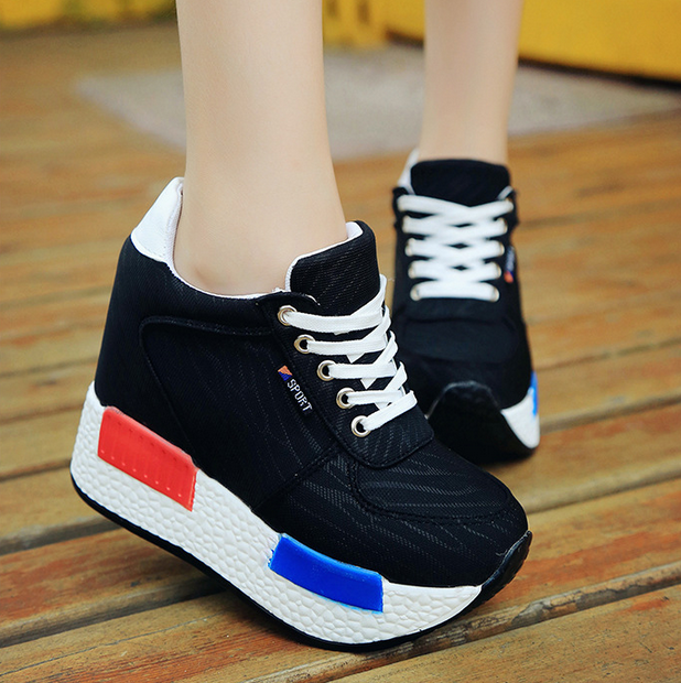 2016 selling autumn fashion korean Increased thick bottom women's shoes casual sprots shoes