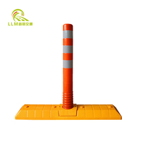 Traffic Safety Product Recovery Extensible Plastic Traffic Lane Separator With Warning Post