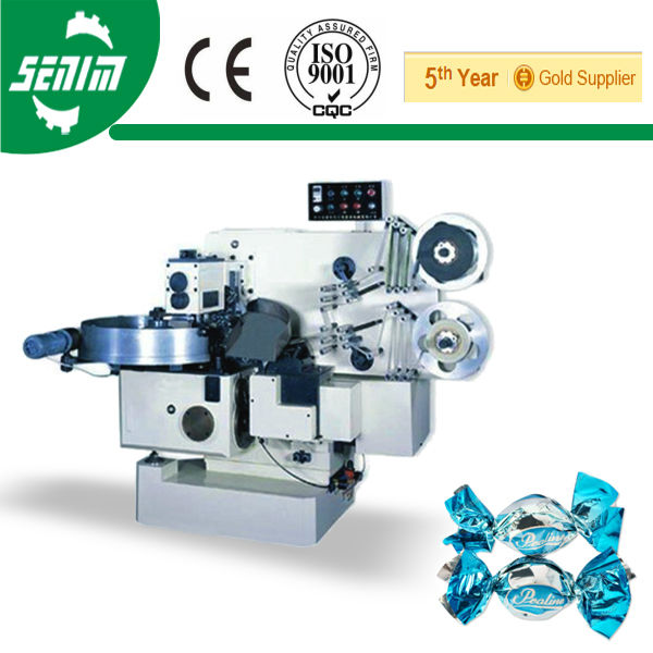 With CE SM800D Fully Automatic Double Twist Taffy Wrap Machine