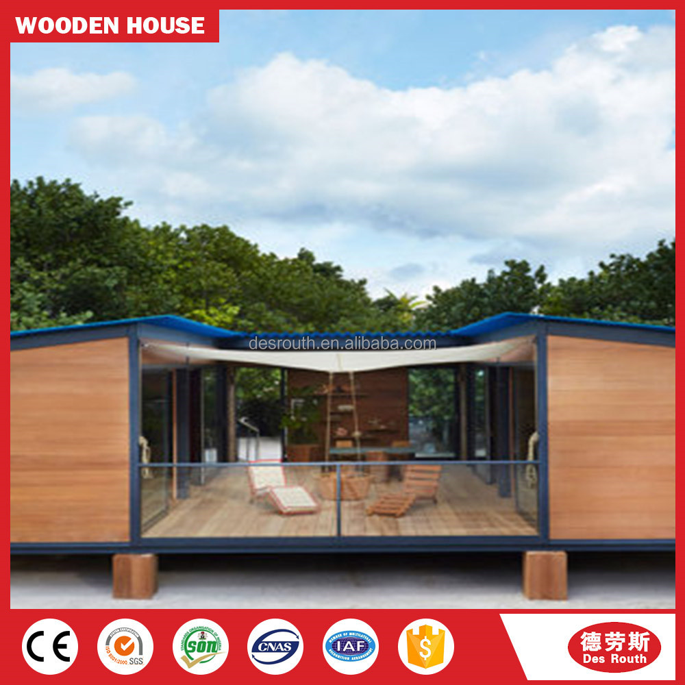 light steel frame pre fabricated houses in china