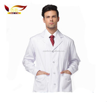 2017 New design long sleeve 100% cotton doctor uniforms wholesale
