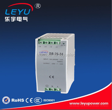 Long life and high reliability 12v output din rail LED 75 watt power supply