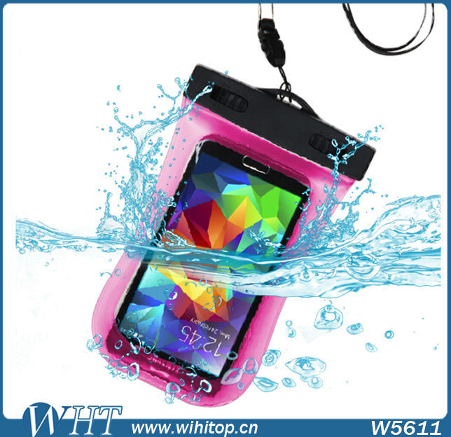 PVC Waterproof Pouch for iPhone 4s 5s Waterproof Bag for Swimming Sand Beach Water Sports