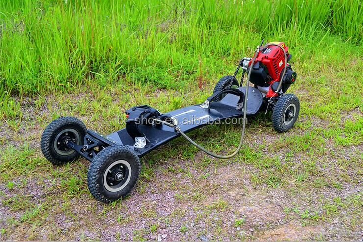 Cool 4 Wheel Petrol Skateboard 37CC 4 Stroke Powerful Countrycross Off-road Skate Board