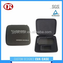 Custom size printing logo black polyester eva case for detecting instrument