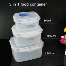 Plastic vacuum food storage container keep air out fresh preservation