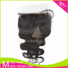 Soft good quality 14inch malaysian body wave silk closure
