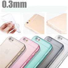 Ultra Slim 0.3mm soft TPU Gel Case for Apple iPhone6S