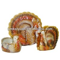 Novelty chicken shaped decorative ceramic napkin holder