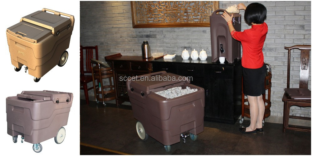 Winteco Ice Hotel Room Air Coolers : Roto molded dry ice caddy cooler cart use in bar and hotel