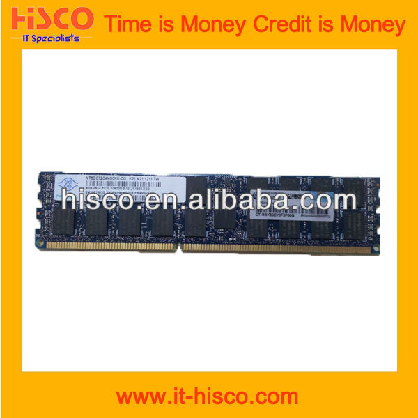 500666-B21 16GB (1x16GB) Quad Rank x4 PC3-8500 (DDR3-1066) Registered CAS-7 Memory