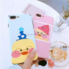 2017 New design Cartoon 3D Couple Little Yellow Duck soft silicone mobile phone case for 6/6plus/6s/6splus/7/7plus