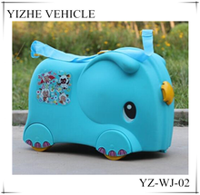 Wholesale ride-on suitcase trolley case / Cheap child ride-on suitcase/ elephant child ride-on toy suitcase