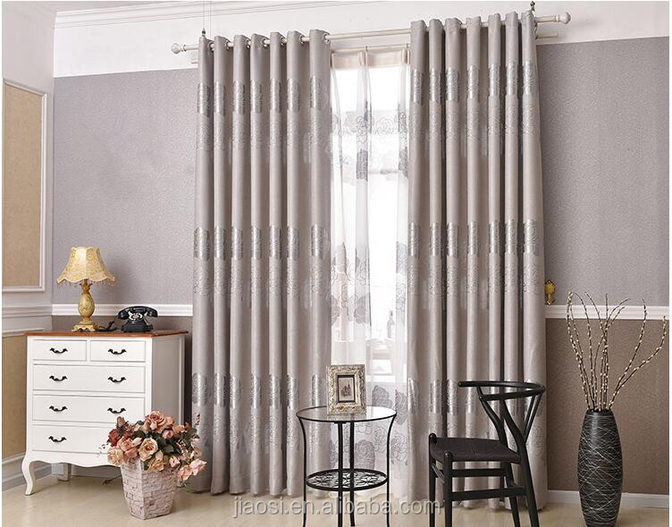 100% polyester jacquard window curtain