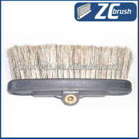 Water flow hog hair and boar bristle car wash brush
