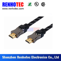 1.4 versions flexible HDMI cable for 1080P 3D film ethernet, HDMI cable with metal plug