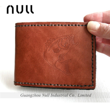Genuine leather men's famous brand handbags and wallet