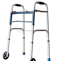 aluminum handicapped equipment wheel walker with factory price with 2 wheels BME871L