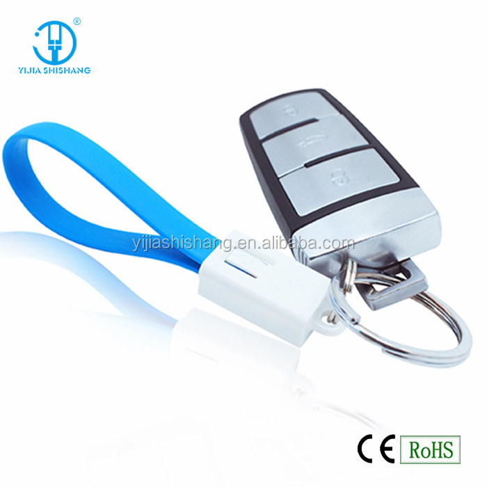 Noodle flat keychain micro USB data cable for mobile phone, tablet pc usb charger cable