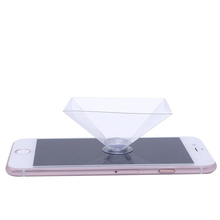 High Quality Holographic Projection Pyramid mobile phone 3D hologram Projector