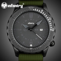 INFANTRY 2015 NEW Black Sport Man Military Style Date Water Resistant Quartz Watch