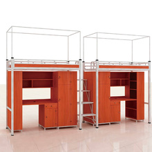School Dormitory Furniture Two Children Metal Bunk Bed