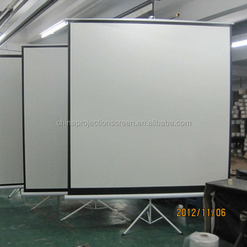 Factory Prices 1:1 Tripod projector screen,full hd projector/tripod screen