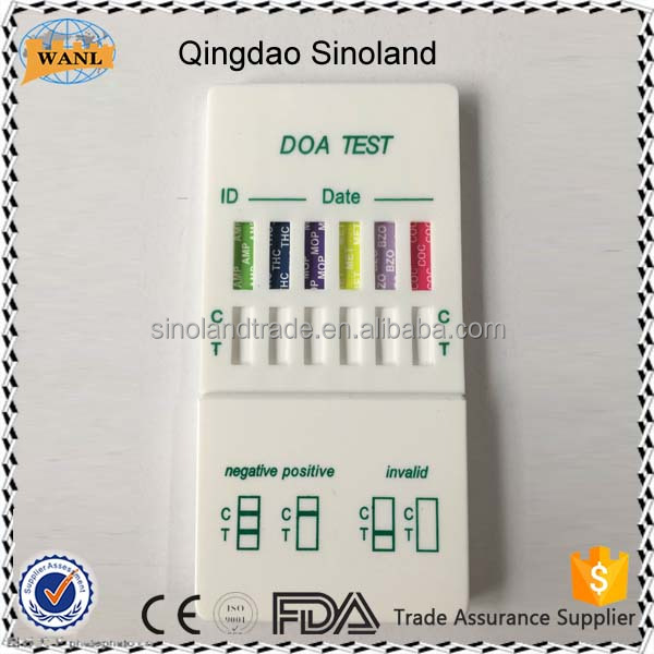 Fast speed 6 panel drug abuse test dipcards