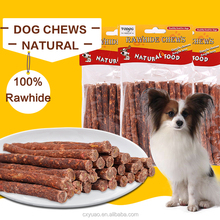 Natural chopped beefhide dog chew stick can be eaten pet toy