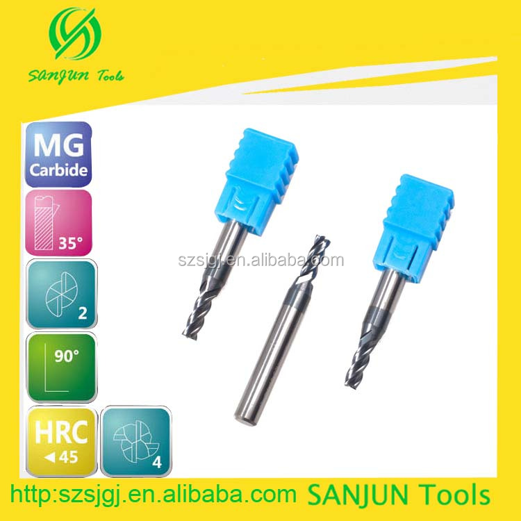 HRC45 tungsten steel solid threaded carbide square gear end milling cutter with high quality