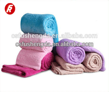 100% polyester super soft coral fleece blanket and throw for sale with cheap price