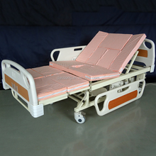 DS-00166 new three cranks design stainless steel hospital bed sale
