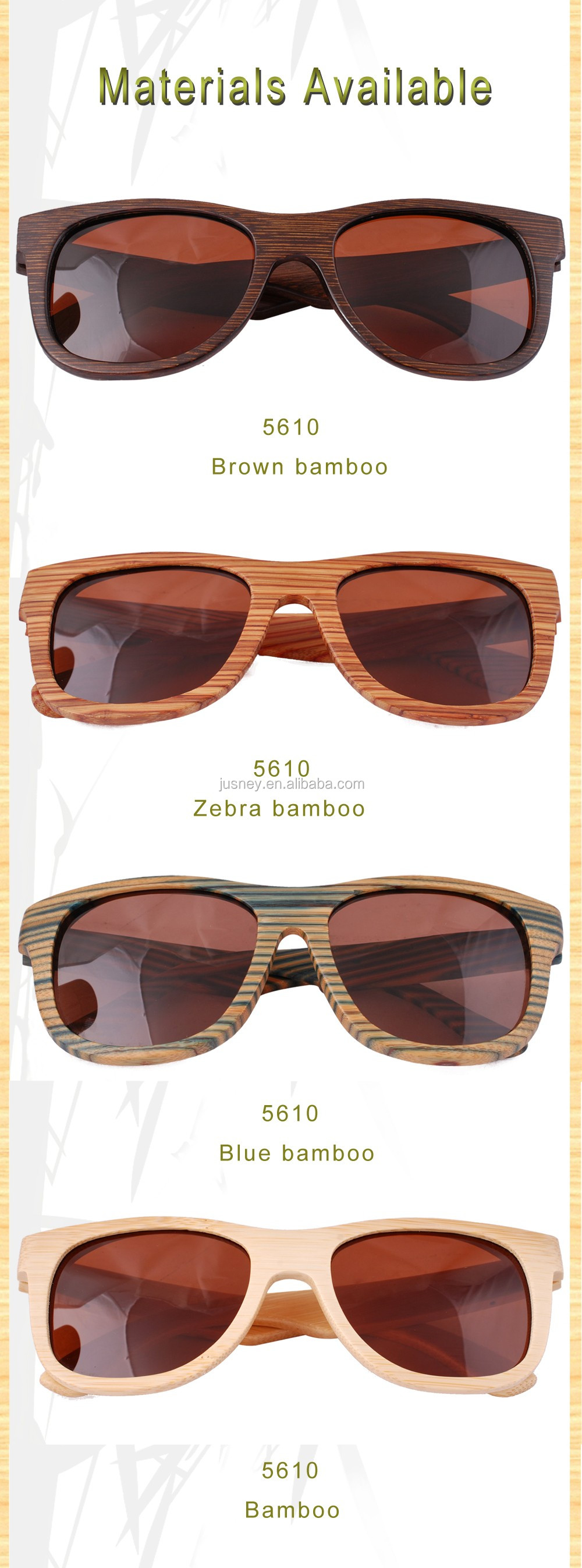 2017 wholesale STOCK Fashion resin polarized lenes bamboo wood sunglasses