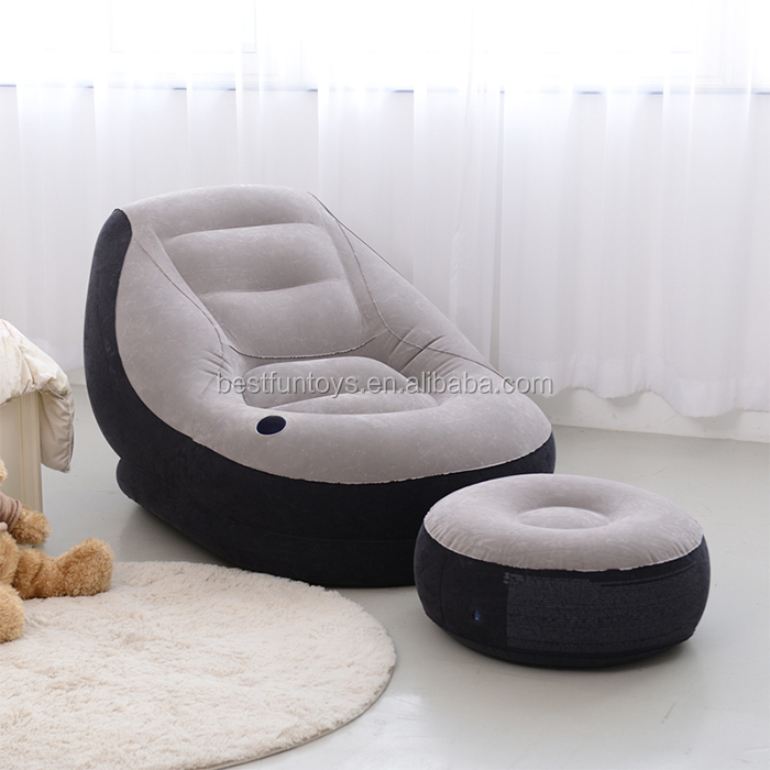 Factory Custom Made Inflatable Chair Sofa Relax Flocking