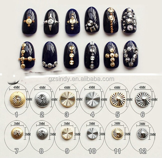 Japanese Nail Art Mini Screw Studs Rivet for Nail Art DIY Decoration